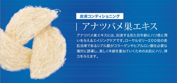 アナツバメ巣エキスは肌にハリと弾力、エイジングケア